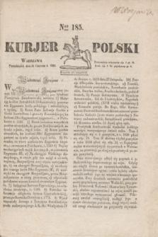 Kurjer Polski. 1830, Nro 185 (14 czerwca)