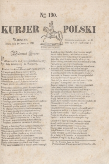 Kurjer Polski. 1830, Nro 190 (19 czerwca)