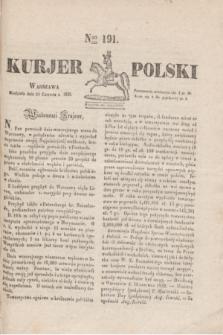Kurjer Polski. 1830, Nro 191 (20 czerwca)
