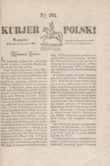 Kurjer Polski. 1830, Nro 194 (23 czerwca)