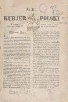 Kurjer Polski. 1830, Nro 201 (1 lipca)