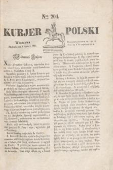 Kurjer Polski. 1830, Nro 204 (4 lipca)