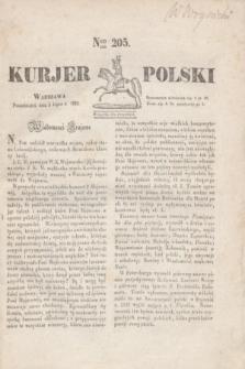 Kurjer Polski. 1830, Nro 205 (5 lipca)