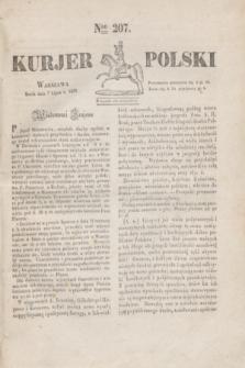 Kurjer Polski. 1830, Nro 207 (7 lipca)