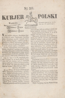 Kurjer Polski. 1830, Nro 211 (11 lipca)