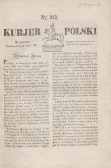 Kurjer Polski. 1830, Nro 212 (12 lipca)