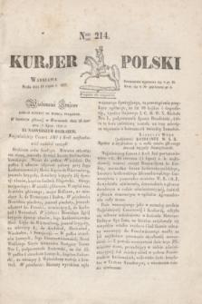 Kurjer Polski. 1830, Nro 214 (14 lipca)