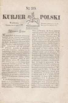 Kurjer Polski. 1830, Nro 215 (15 lipca)