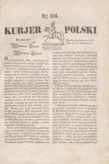 Kurjer Polski. 1830, Nro 216 (16 lipca)