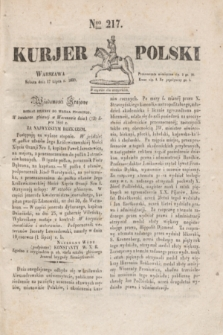 Kurjer Polski. 1830, Nro 217 (17 lipca)
