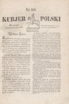 Kurjer Polski. 1830, Nro 218 (18 lipca)