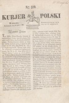Kurjer Polski. 1830, Nro 219 (19 lipca)
