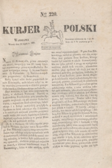 Kurjer Polski. 1830, Nro 220 (20 lipca)