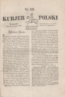 Kurjer Polski. 1830, Nro 221 (21 lipca)