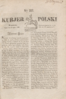Kurjer Polski. 1830, Nro 223 (23 lipca)
