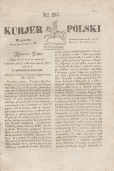 Kurjer Polski. 1830, Nro 227 (27 lipca)