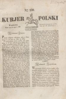 Kurjer Polski. 1830, Nro 230 (30 lipca)