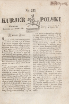 Kurjer Polski. 1830, Nro 233 (2 sierpnia)