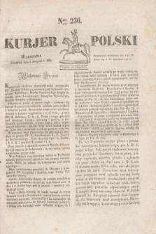 Kurjer Polski. 1830, Nro 236 (5 sierpnia)