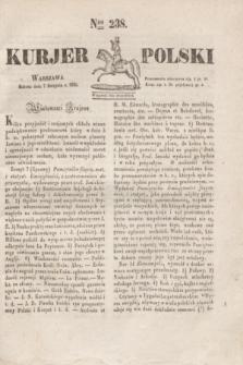 Kurjer Polski. 1830, Nro 238 (7 sierpnia)