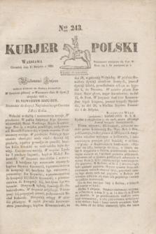 Kurjer Polski. 1830, Nro 243 (12 sierpnia)