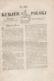 Kurjer Polski. 1830, Nro 248 (18 sierpnia)