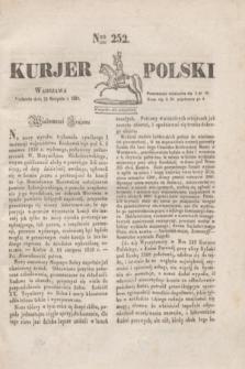 Kurjer Polski. 1830, Nro 252 (22 sierpnia)
