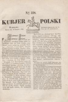 Kurjer Polski. 1830, Nro 258 (28 sierpnia)