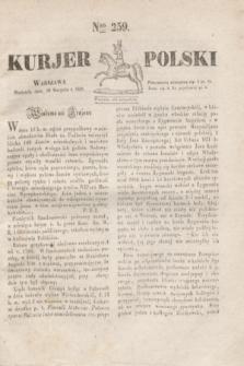 Kurjer Polski. 1830, Nro 259 (29 sierpnia)