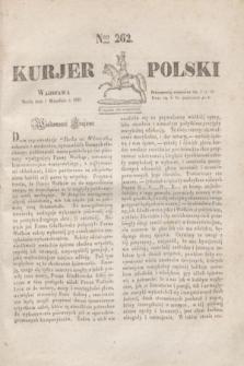 Kurjer Polski. 1830, Nro 262 (1 września)
