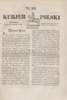 Kurjer Polski. 1830, Nro 263 (2 września 1830)