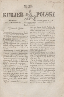 Kurjer Polski. 1830, Nro 265 (4 września)