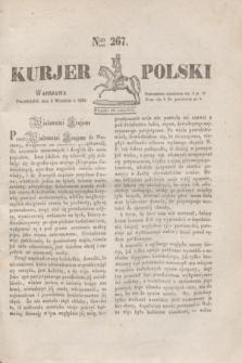 Kurjer Polski. 1830, Nro 267 (6 września)