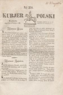 Kurjer Polski. 1830, Nro 270 (10 września 1830)