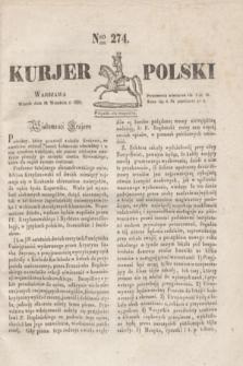 Kurjer Polski. 1830, Nro 274 (14 września)