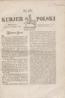Kurjer Polski. 1830, Nro 277 (17 września)