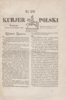 Kurjer Polski. 1830, Nro 279 (19 września)