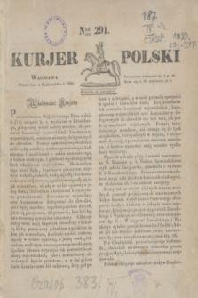 Kurjer Polski. 1830, Nro 291 (1 października)