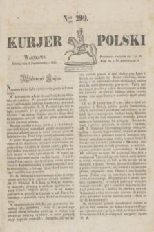 Kurjer Polski. 1830, Nro 299 (9 października)