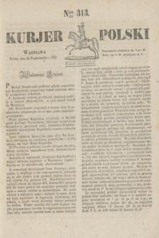 Kurjer Polski. 1830, Nro 313 (23 października)