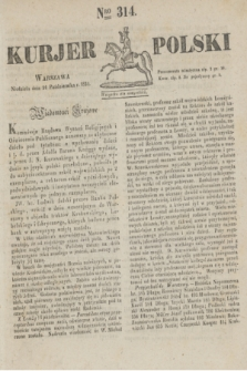 Kurjer Polski. 1830, Nro 314 (24 października)