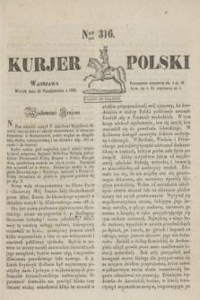 Kurjer Polski. 1830, Nro 316 (26 października)