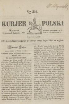 Kurjer Polski. 1830, Nro 321 (31 października)