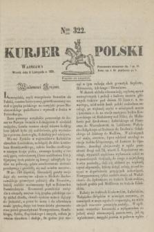 Kurjer Polski. 1830, Nro 322 (2 listopada)