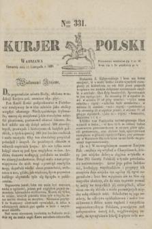 Kurjer Polski. 1830, Nro 331 (11 listopada)