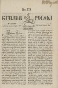 Kurjer Polski. 1830, Nro 335 (15 listopada)