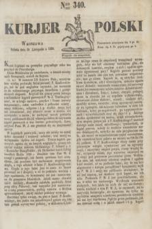 Kurjer Polski. 1830, Nro 340 (20 listopada)