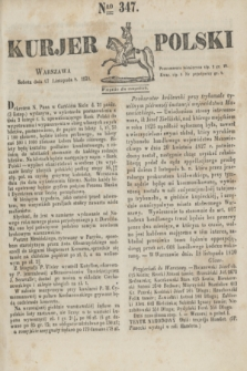 Kurjer Polski. 1830, Nro 347 (27 listopada)