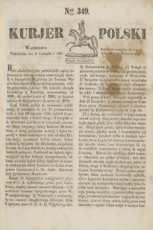 Kurjer Polski. 1830, Nro 349 (29 listopada)
