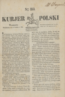 Kurjer Polski. 1830, Nro 353 (6 grudnia)
